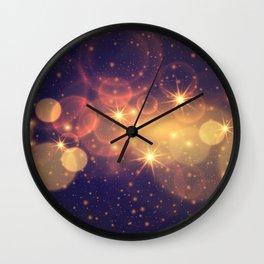 Shiny Sparkling Festive Holiday Bokeh Decorative Wall Clock