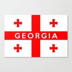 Georgia country flag name text Canvas Print