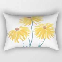 three yellow flowers Rectangular Pillow