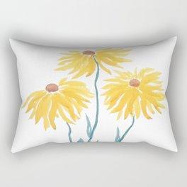 three yellow flowers Rectangular Pillow