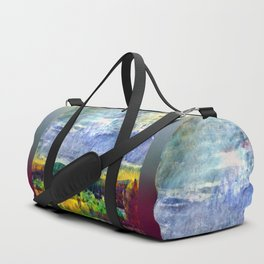 From Sunriver: Mt. Bachelor (Salt Watercolor) Duffle Bag