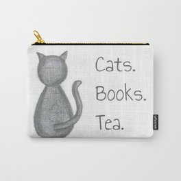 Cats. Books. Tea. Carry-All Pouch