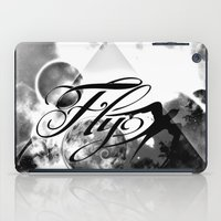 decal iPad Cases featuring fly away bw by haroulita