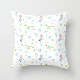 Cubic birthday Throw Pillow