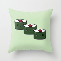 Tuna Roll Sushi Throw Pillow