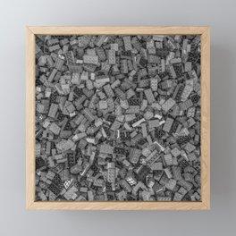 Master builder B&W Framed Mini Art Print