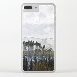 Loch,trees and mountains, Scottish Highlands Clear iPhone Case