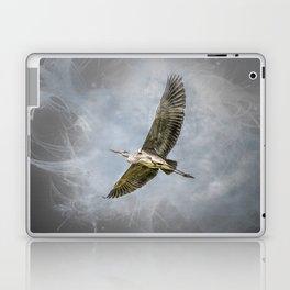 Heron in flight Laptop & iPad Skin