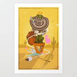 DESERT VISIONS Art Print