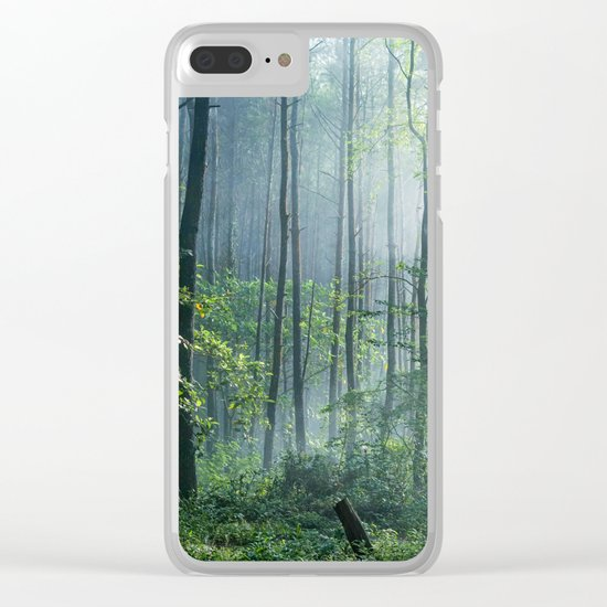 Enchanted Woodland Clear iPhone Case