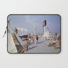 Ranch House Motel in the 1960's. North Wildwood, New Jersey Laptop Sleeve