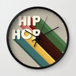 HIP HOP - typography Wall Clock
