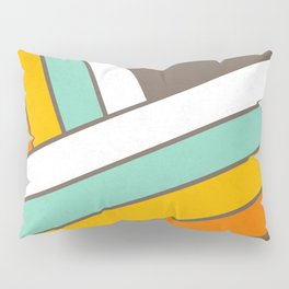 Retro 70s Stripes  -  Abstract Geometric Design Pillow Sham