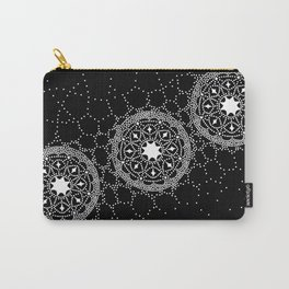 Star Lace Lattice Black Carry-All Pouch