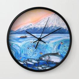 Cook Inlet Wild Alaska Wall Clock