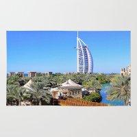 arab Area & Throw Rugs featuring Dubai - Burj Al Arab by Art-Motiva