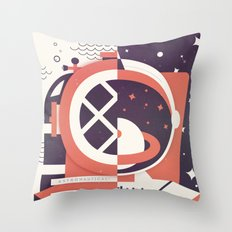 Astronautical: The Final Frontiers Throw Pillow