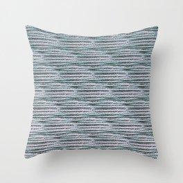 Knitting-like crochet texture Throw Pillow