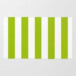 Limerick green - solid color - white vertical lines pattern Rug