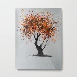 Autumn noise of foliage Metal Print