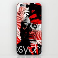 psycho iPhone & iPod Skins featuring psycho by RIGOLEONART