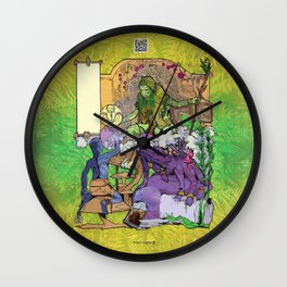 Bloom: An Awakening - The Holy Divinity Marius Janus Gifting the Bloom Shard Wall Clock