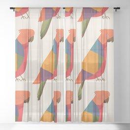 Australian King Parrot Sheer Curtain