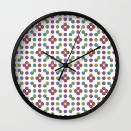 Multicoloed Circles Pattern Wall Clock