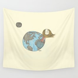 One Delusionary Loon Lands in the Pocket of the Earth Wall Tapestry