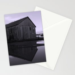 Warehouse Reflection in Lavender Stationery Cards