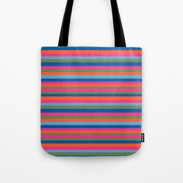 Fall Candy Stripes Tote Bag