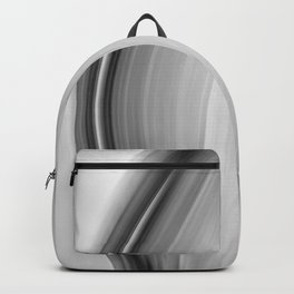 """Untitled 011"" Black and White Abstract Art by Murray Bolesta Backpack"