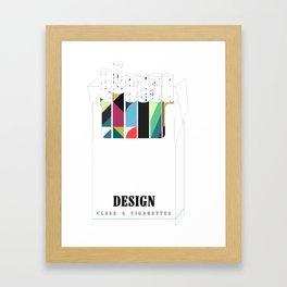 Design, it'll slowly kill you Framed Art Print