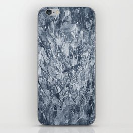 Abstract black painting iPhone Skin