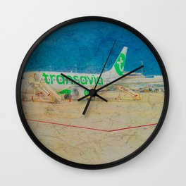 Transavia Boeing 737-300 in Munich Wall Clock