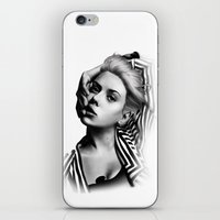 lip iPhone & iPod Skins featuring Pulling Lip by BeckiBoos