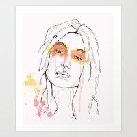 Color Faces Art Print