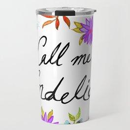 Call Me Cordelia - Purple Flowers Travel Mug