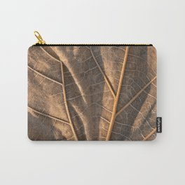 Gold Weathered Leaf Carry-All Pouch