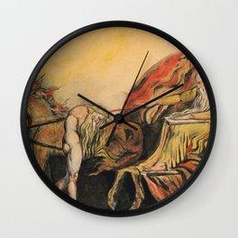"William Blake ""God Judging Adam"" Wall Clock"