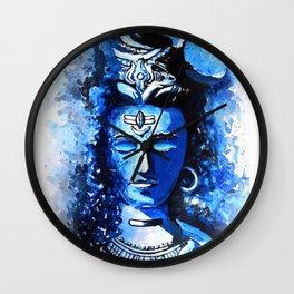 lord shiva blue painting Wall Clock