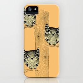 Owls (orange) iPhone Case