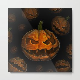 Pumpkin Hallowen Metal Print