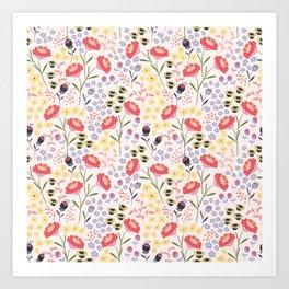 Haille's Bouquet Art Print