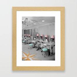 Vintage Hair Salon Framed Art Print