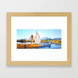 Light Sets Sail Framed Art Print