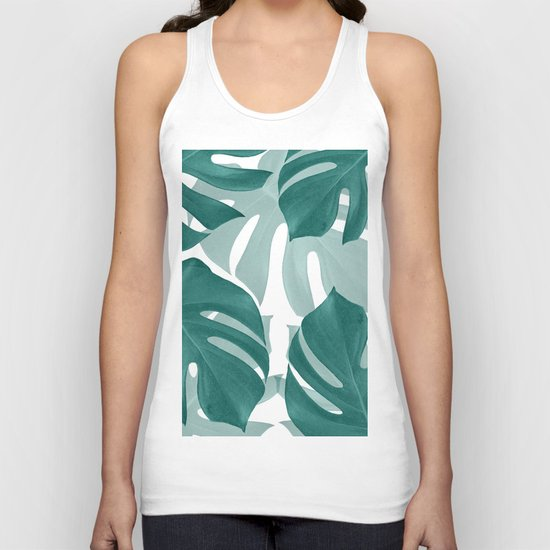 Monstera Leaves Vibes #1 #tropical #foliage #decor #art #society6 by anitabellajantz