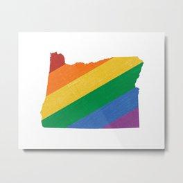 Oregon Pride Metal Print