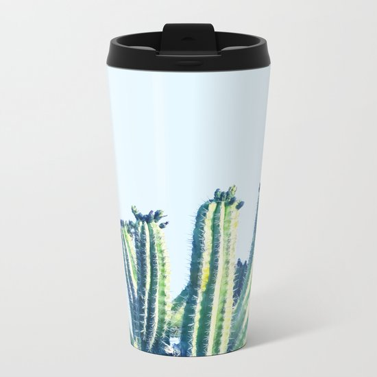Cactus #society6 #decor #buyart Metal Travel Mug