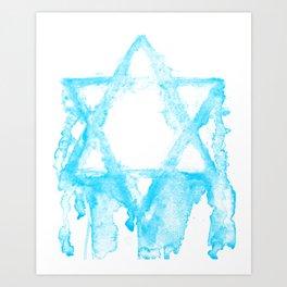 THE STAR OF DAVID. Art Print